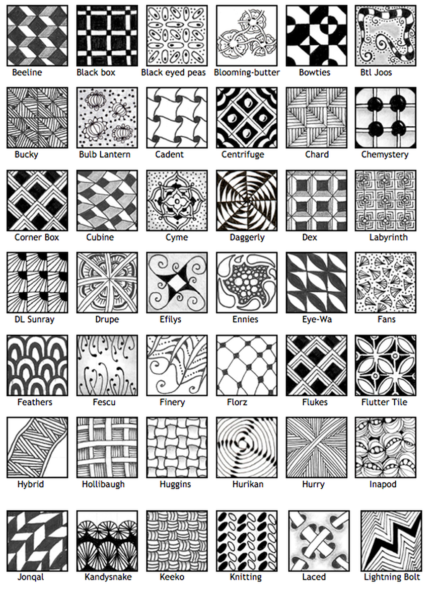 Line Drawing Patterns Art