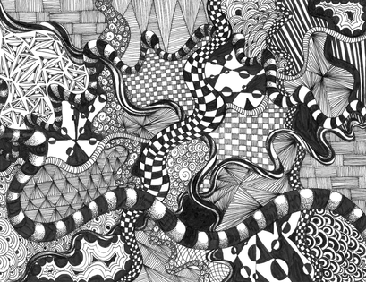 Respect Zentangle Mrs Cook's Art Class Interesting Zentangle Patterns